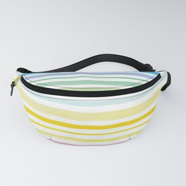 Watercolor stripes Fanny Pack