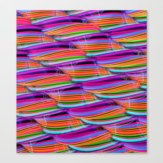 Curved Disco World Canvas Print