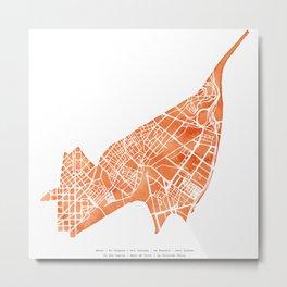 Barcelona map: Sant Andreu Metal Print
