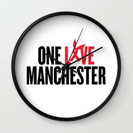 One Love Manchester Wall Clock