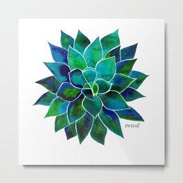 Blue Aloes Flower Metal Print