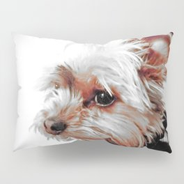 Yorkie | Dog | Dogs | Bad Day eh? | Nadia Bonello Pillow Sham
