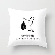WANDERINGS by ISHISHA PROJECT Throw Pillow