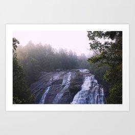 Waterfall & Fog Art Print