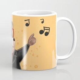 Dancing Bear Illustration Coffee Mug