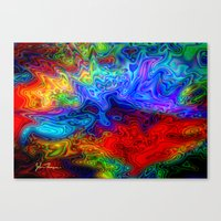 acid Canvas Prints featuring Acid by JT Digital Art
