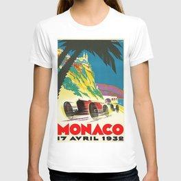 Vintage 1932 Monaco Grand Prix Racing Advertising Poster T-shirt