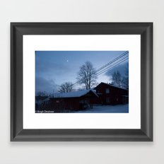 Finland in the winter #5 - Fiskars Artist Village  Framed Art Print