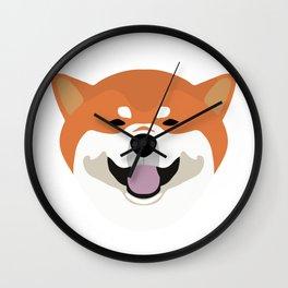 Shiba Inu Decal Wall Clock