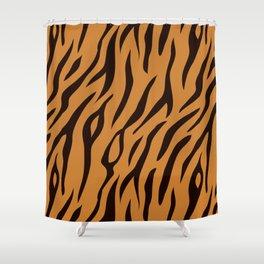 Tiger Stripes Wild Ainmal Print Shower Curtain