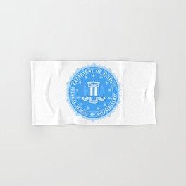 FBI Seal In Blue Hand & Bath Towel