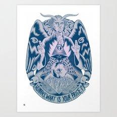 Man vs Money Art Print