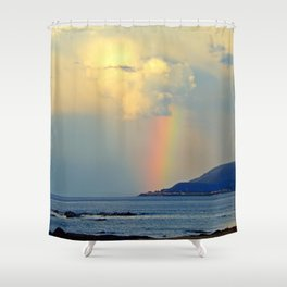 Storm Drops a Rainbow onto Village Shower Curtain