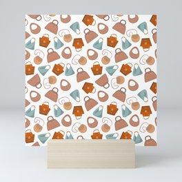 Stylish handle feminine bags pattern 2 Mini Art Print