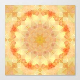 Orange Dream Mandala Canvas Print