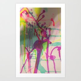 Water Color Frenzy Art Print
