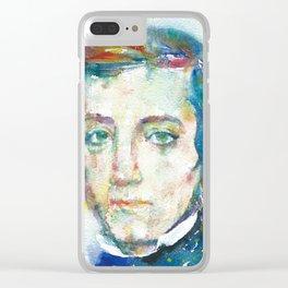 ALEXIS DE TOCQUEVILLE - watercolor portrait Clear iPhone Case