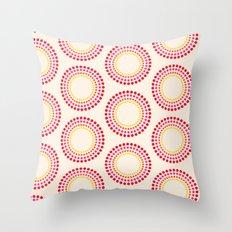 Retro happy bright floral 1 Throw Pillow