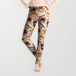 Peanut Butter and Jelly Watercolor Leggings