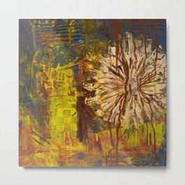 Autumn Flower Distress Metal Print