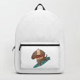 Cool Chibi Surfer Dog Backpack