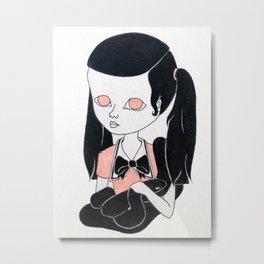 kawaii girl with snake Metal Print