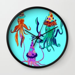 Party Squids Wall Clock