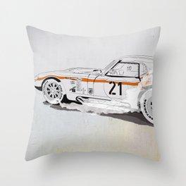 Daytona Coupe_recollection Throw Pillow