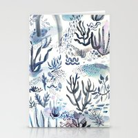 under the sea Stationery Cards featuring Under the Sea by jenna lechner