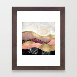 Blush Sun Framed Art Print