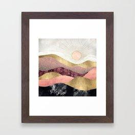 Blush Sun Framed Art Print
