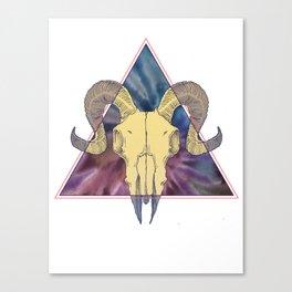 Dark Tie Dye Canvas Print