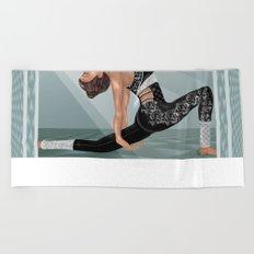 Yoga Backbend Flow Beach Towel