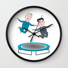 Trump and Kim Jong Un Wall Clock