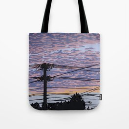 Telephone Poles at Sunset 1 Tote Bag