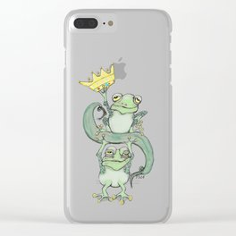 King Frog Clear iPhone Case