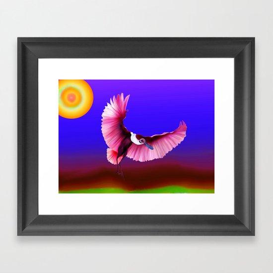 roseate spoonbill Framed Art Print