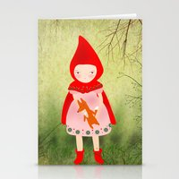 red riding hood Stationery Cards featuring Little red riding hood by munieca
