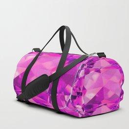 FUCHSIA PINK TOURMALINE FACETED GEMS  ART Duffle Bag