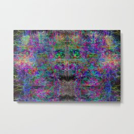 Senile Scream (abstract, psychedelic, visionary, glowing edges) Metal Print