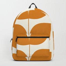Mid Century Modern Leaves Orange Backpack