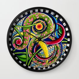 Spring Garden Abstract Wall Clock