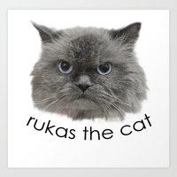 Rukas The Cat Art Print