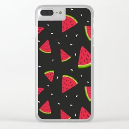 Watermelons in tha dark Clear iPhone Case