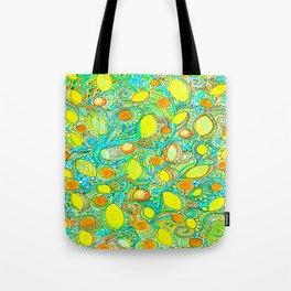 Abstract Citrus pattern drawing Tote Bag
