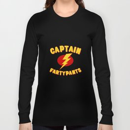 Captain Fartypants Funny Fart Long Sleeve T-shirt