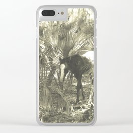 Wild Horse in the Woods Clear iPhone Case