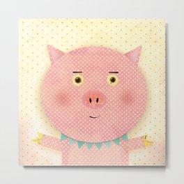 Piggy Pooh Metal Print