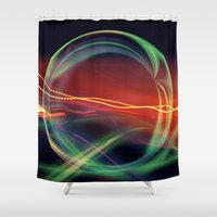 stargate Shower Curtains featuring The Gate Abstract by minx267
