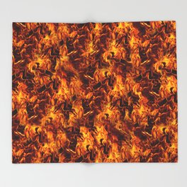Fire and Flames Pattern Decke